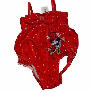Disney Baby Minnie Mouse Bathing Suit Red 6-9 mo